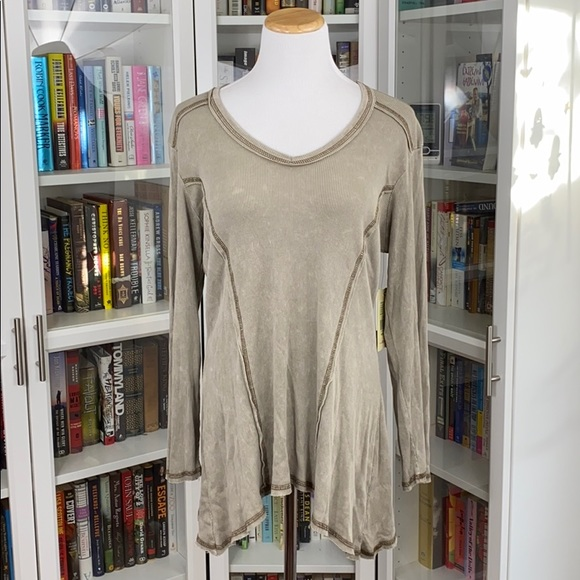 NWT Reba Khaki Colorado Cowgirl Long Sleeve Tunic